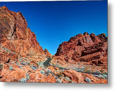 Valley Of Fire Metal Print by Zachary Cox