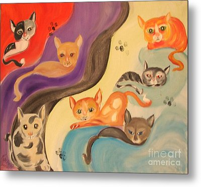 Valley Of The Kittens Metal Print by Rachel Carmichael