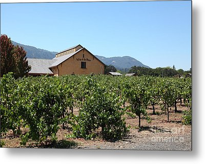 Valley Of The Moon Winery In The Sonoma California Wine Country 5d24485 Metal Print by Wingsdomain Art and Photography