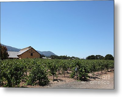 Valley Of The Moon Winery In The Sonoma California Wine Country 5d24486 Metal Print by Wingsdomain Art and Photography