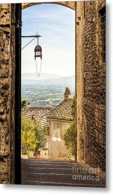 Valley Outside Assisi Metal Print