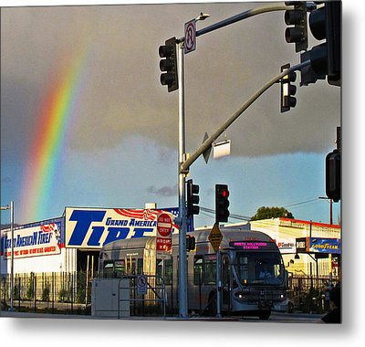 Valley Rainbow 2 Metal Print