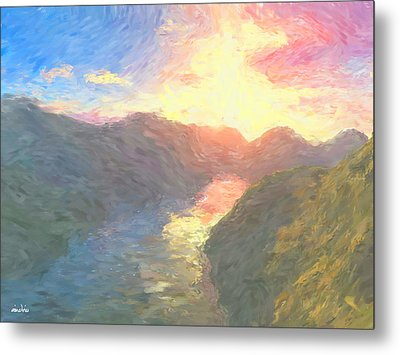 Valley Serenity Metal Print by Aindriu G