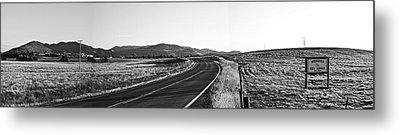 Metal Print featuring the photograph Valley Springs Road Panorama by Lennie Green