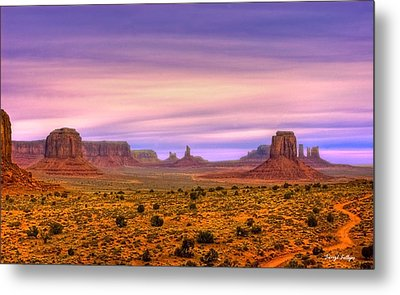 Valley Trail Metal Print by Darryl Gallegos