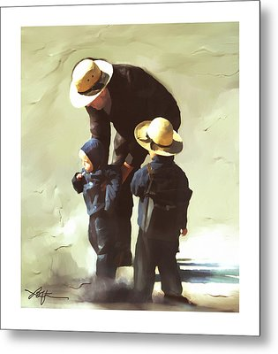 Metal Print featuring the painting Value Your Children by Bob Salo