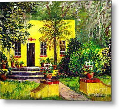 Metal Print featuring the painting Vamo Road House by Lou Ann Bagnall