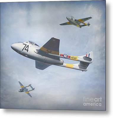 Metal Print featuring the photograph Vampire Jet II by Roy  McPeak