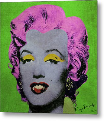 Vampire Marilyn Variant 2 Metal Print by Filippo B