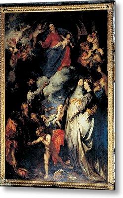 Van Dyck Anton O Antoon, Madonna Metal Print by Everett