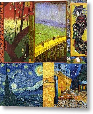 Van Gogh Collage Metal Print by Philip Ralley