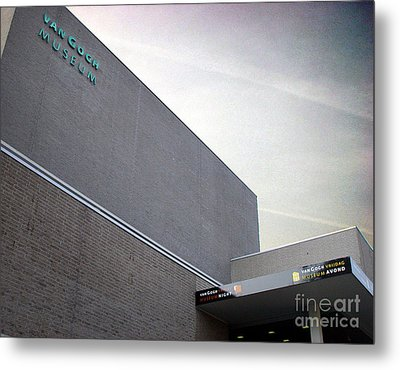 Metal Print featuring the photograph Van Gogh Museum Exterior by Michael Edwards