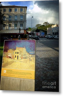 Metal Print featuring the photograph Van Gogh Painting In Arles by Michael Edwards