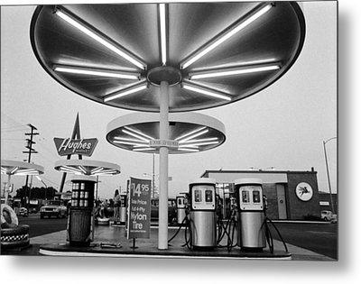 Van Nuys Boulevard Gas Station Symbols Mys 10 Metal Print by Richard McCloskey