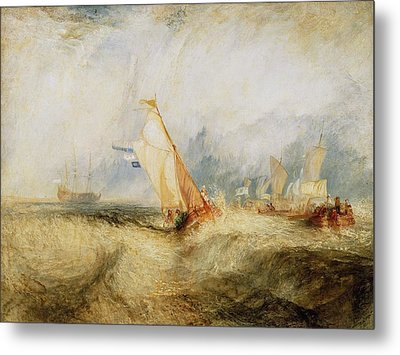 Van Tromp Going About To Please His Masters Metal Print by JMW Turner