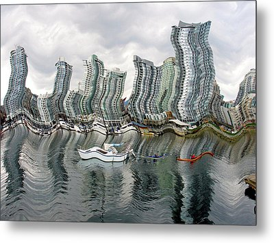 Vancouver Abstracted Metal Print by Gerry Bates