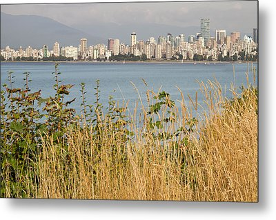 Metal Print featuring the photograph Vancouver Bc Downtown From Hasting Mills Park by JPLDesigns