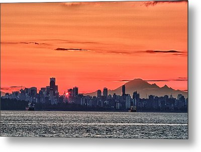 Vancouver Bc Morning Metal Print by Scott Holmes