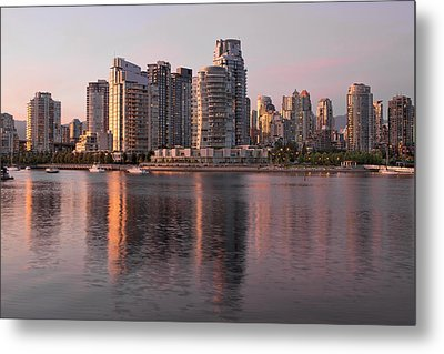 Metal Print featuring the photograph Vancouver Bc Waterfront Condominiums by JPLDesigns