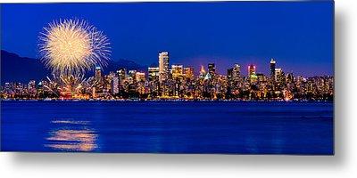 Vancouver Celebration Of Light Fireworks 2013 - Day 1 Metal Print by Alexis Birkill