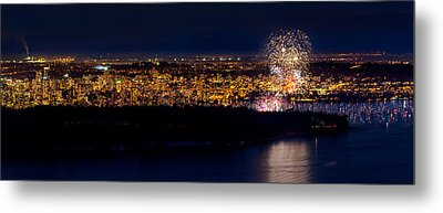 Vancouver Celebration Of Light Fireworks 2013 - Day 3 Metal Print by Alexis Birkill