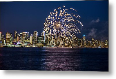 Vancouver Fireworks Metal Print