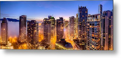 Vancouver Fog Metal Print by Alexis Birkill