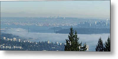 Vancouver Fog Bank Metal Print by R J Ruppenthal