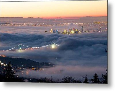 Vancouver Fog Metal Print by Scott Holmes