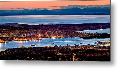 Vancouver From Above Metal Print