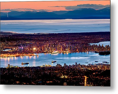 Vancouver From Above Crop Metal Print by Alexis Birkill