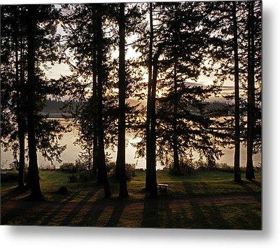 Vancouver Island Sunrise Metal Print by Inge Riis McDonald
