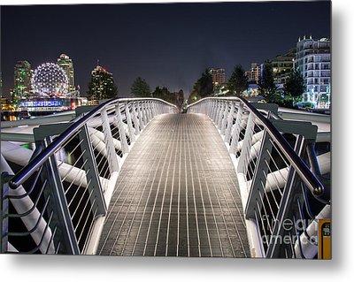 Vancouver Olympic Village Canoe Bridge - By Sabine Edrissi  Metal Print by Sabine Edrissi
