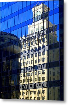 Vancouver Reflections 4 Metal Print by Randall Weidner