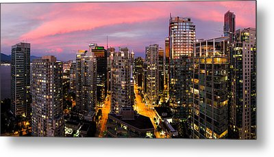 Vancouver Rooftop Sunset Metal Print