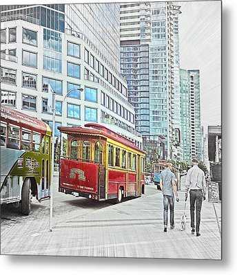 Vancouver Sightseeing Metal Print by Carol Cottrell