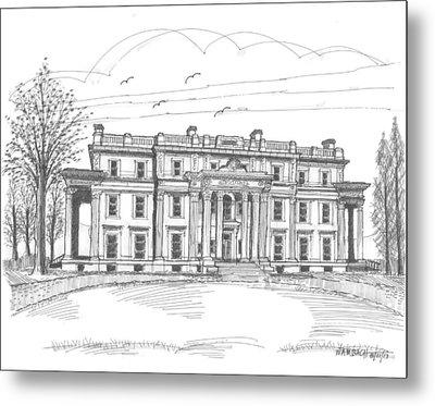 Vanderbilt Mansion Metal Print by Richard Wambach