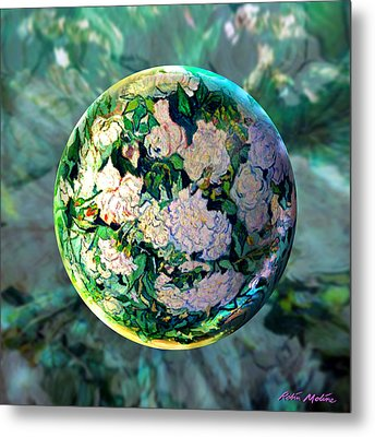Vangloghing Roses Metal Print by Robin Moline
