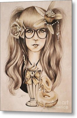 Metal Print featuring the mixed media Vanilla by Sheena Pike