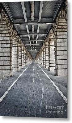 Vanishing Point Metal Print by Delphimages Photo Creations