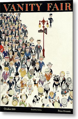 Vanity Fair Cover Featuring A Crowd Metal Print