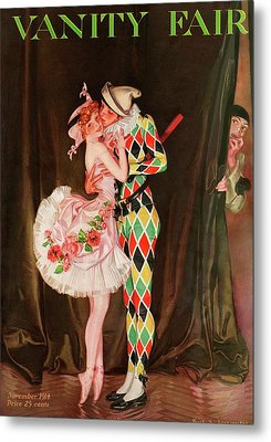 Vanity Fair Cover Featuring A Harlequin Metal Print by Frank X. Leyendecker