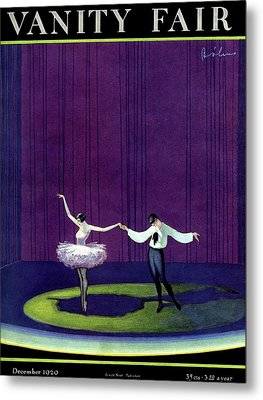 Vanity Fair Cover Featuring A Masked Male Dancer Metal Print