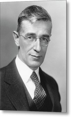 Vannevar Bush Metal Print by Emilio Segre Visual Archives/american Institute Of Physics