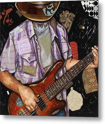 Vaquero De The Bass Guitar Metal Print