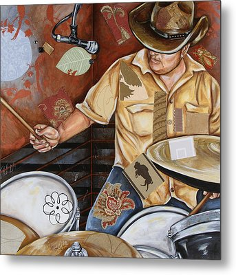 Vaquero De The Drums Metal Print