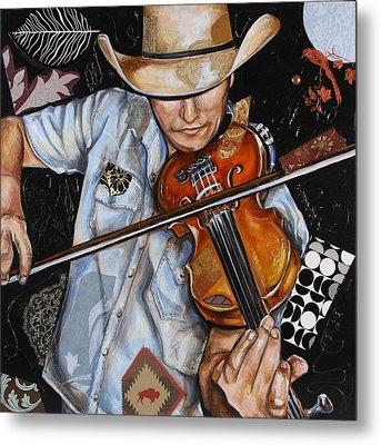 Vaquero De The Fiddle Metal Print