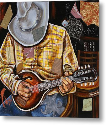 Vaquero De The Mandolin Metal Print