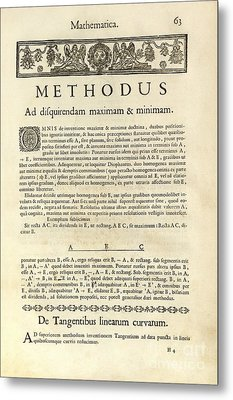 Varia Opera Mathematica By Pierre Fermat Metal Print by Royal Astronomical Society