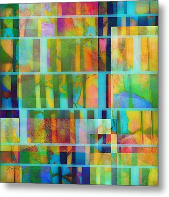 Variation On A Theme Abstract Art Metal Print by Ann Powell